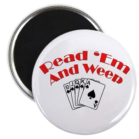 """Read Em and Weep! 2.25"""" Magnet (10 pack)"""