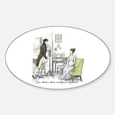 Pride & Prejudice Ch 34 Oval Decal