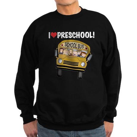 School Bus Preschool Sweatshirt (dark)