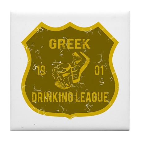 Greek Drinking League Tile Coaster