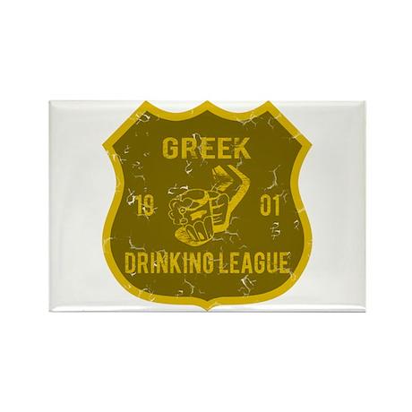 Greek Drinking League Rectangle Magnet