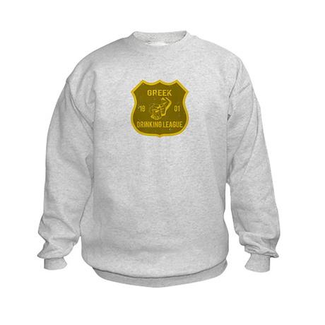 Greek Drinking League Kids Sweatshirt