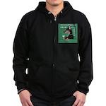 Doberman Bitch Zip Hoodie (dark)