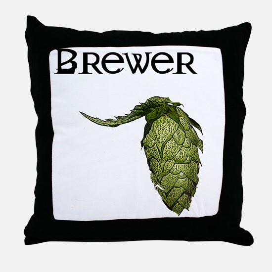 Cute Brewing beer Throw Pillow