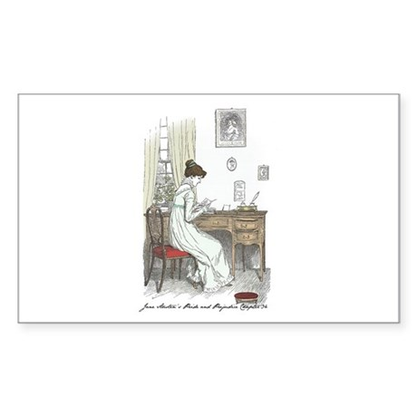 Pride & Prejudice Ch 34a Rectangle Sticker