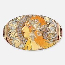 Alphonse Mucha Zodiac Woman Art Nouveau Decal
