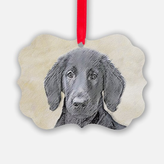 Flat-Coated Retriever Ornament
