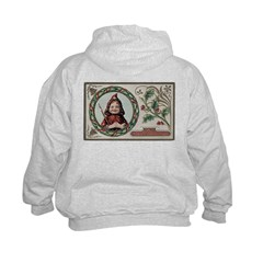 1909 Girl in Red Hood Hoodie