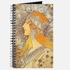 Alphonse Mucha Zodiac Woman Art Nouveau Journal
