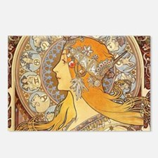 Alphonse Mucha Zodiac Wom Postcards (Package of 8)