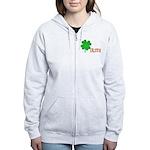Irish Shamrock Women's Zip Hoodie