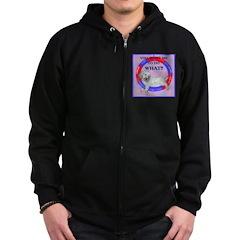 Agility Clumber Spaniel Zip Hoodie (dark)