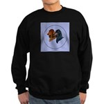 Dachshund Duo Sweatshirt (dark)