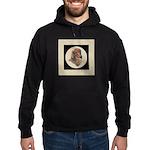 Longhaired Dachshund head stu Hoodie (dark)