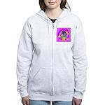 Mini Wirehaired Dachshund Women's Zip Hoodie