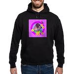Mini Wirehaired Dachshund Hoodie (dark)