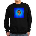 Long Coated Dachshund Profile Sweatshirt (dark)