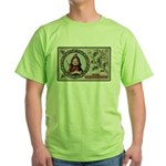 1909 Girl in Red Hood Green T-Shirt