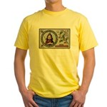 1909 Girl in Red Hood Yellow T-Shirt
