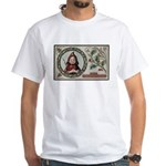 1909 Girl in Red Hood White T-Shirt