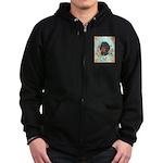 Black and Tan Dachshund Zip Hoodie (dark)