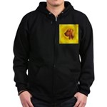 Beautiful Bloodhound Head stu Zip Hoodie (dark)