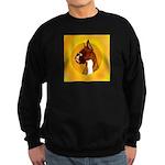 Fawn Boxer Head Study Sweatshirt (dark)