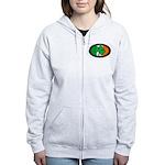 Irish Clover Women's Zip Hoodie