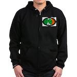 Irish Clover Zip Hoodie (dark)