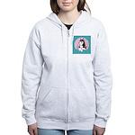 Alpha Siberian Husky Bitch Women's Zip Hoodie