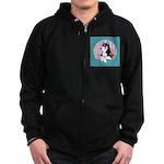Alpha Siberian Husky Bitch Zip Hoodie (dark)