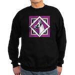 Harlequin Great Dane design Sweatshirt (dark)