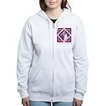 Harlequin Great Dane design Women's Zip Hoodie