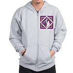 Harlequin Great Dane design Zip Hoodie
