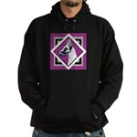 Harlequin Great Dane design Hoodie (dark)