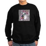 Feminine Harlequin Great Dane Sweatshirt (dark)