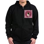 Mantle Great Dane design Zip Hoodie (dark)