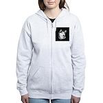 Gray Alaskan Malamute Women's Zip Hoodie