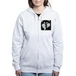 Malamute Black & White Women's Zip Hoodie