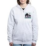 Newfoundland Puppy Women's Zip Hoodie