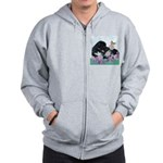 Newfoundland Puppy Zip Hoodie