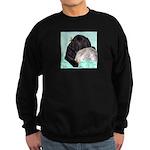 Sleepy Newfoundland Puppy Sweatshirt (dark)