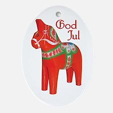 God Jul Dala Oval Ornament