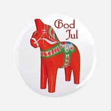 """God Jul Dala 3.5"""" Button"""