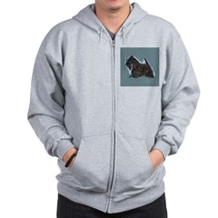 Scottish Terrier - Scotty Dog Zip Hoodie