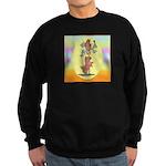 Norwich Terrier & Cat Sweatshirt (dark)