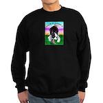 Bowing Boston Terrier Sweatshirt (dark)