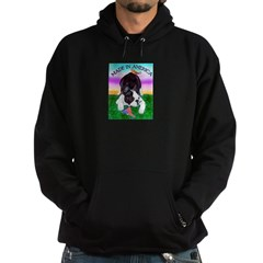 Bowing Boston Terrier Hoodie (dark)