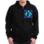 Xolo design Zip Hoodie (dark)