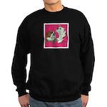 English Bulldog Pair Sweatshirt (dark)